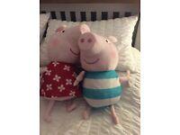 Peppa Pig and George Pig stuff toys