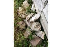 Garden wall stones, rockery. EXMOUTH Devon.