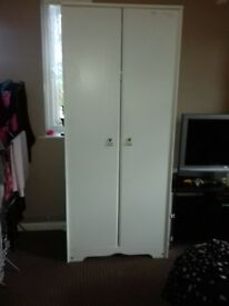 white & pine wood wardrobes for sale
