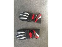 Three pairs ladies motorcycle gloves