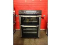 Belling electric cooker 60cm stainless steel ceramic double oven 3 months warranty free local deliv