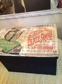 Vintage Trunk Decoupaged with Vintage Music Sheets.