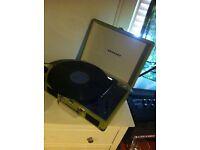 Green Crosley Record Player