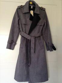 Women's grey belted jacket
