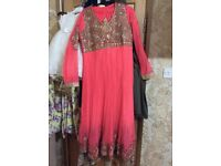 Coral Indian dress size medium 3 piece stiched