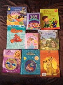 9 x CHILDRENS BOOKS,INCL 6 DISNEY BOOKS OF WHICH 3 ARE CD BOOKS. MOST IN EXCELLENT CONDITION