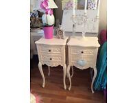 2 French Louis bedside tables