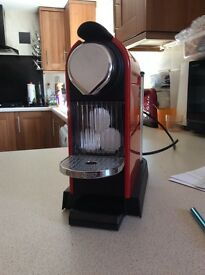 Krups coffee machine, Nespresso ,cherry red.