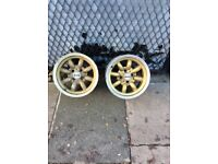 Rare mini lights alloy wheels 7x13 only two