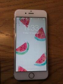 Iphone 6 gold, refurbished, good condition 1y warranty,locked O2/giff gaff