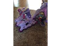 Groovy Chick inline skates and accessories