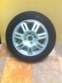hyundai alloy rim and tire (never used) to suit getz cdx 2006 plus fanbelts