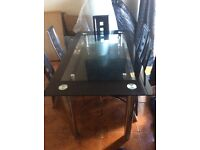 Glass dining table REDUCED IN PRICE NOW £50