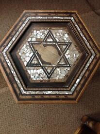 Small hexagonal ornate table