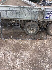 Heavy wrought iron double gates