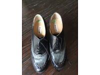 Ladies dune shoes size 4 black/grey