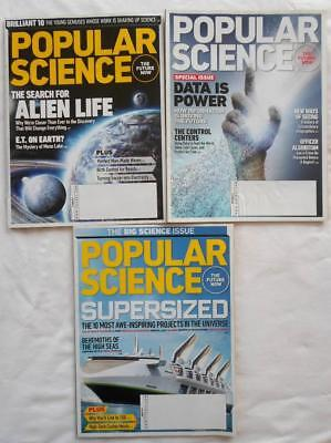 3 Lot 2011 Popular Science Magazine Behemoths Of The Sea Alien Life Data Power