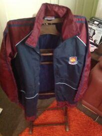 West Ham jacket and shirt jacket new shirt used but in very good condition jacket medium shirt large