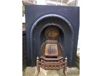 Cast iron fireplace surround and grate. New price!