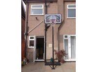 Basketball stand/backboard and net