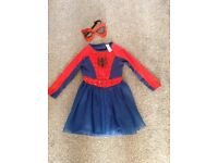 3-4 years spider girl dressing up costume world book day