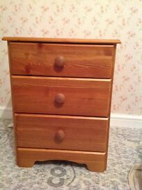 2 x Pine Bedside Chests. Ideal as is or as a shabby chic project. Offers Accepted.