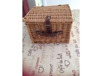 Wicker Picnic Basket Two Person