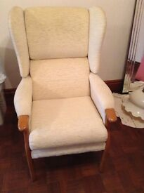 Cream armchair in perfect condition