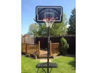Basketball hoop/stand - mobile and adjustable full size basketball hoop