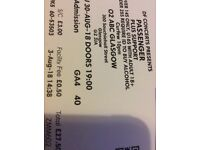 1 x Passenger ticket. Glasgow Barrowlands. 30th August