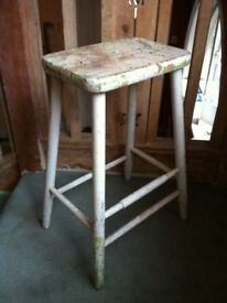 Antique Distressed Bar Stool Craftsman Seat Plant Stand / Can Deliver