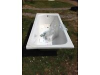 FREE New/damaged White Bath Ultra Levee Single ended low bath with Grip Handles & Legset 1700x750