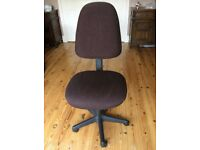 Brown fabric office chair
