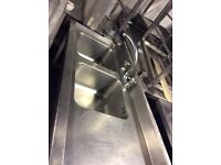 Double bowl stainless steel sink choice of two