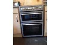 Hotpoint electric cooker double oven and grill
