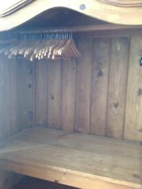 Solid Mexican pine wardrobes x two