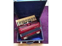Baile 96 Bass Accordian with Case. Ideal for beginner.