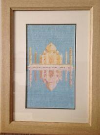 Taj Mahal framed picture