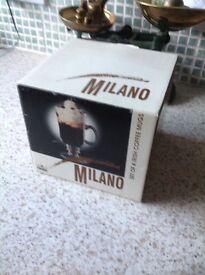 Milano Irish coffee mugs set of 4 boxed £5.00