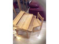 Child's solid wood desk