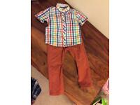 Next boys shirt and chinos age 18-24 months/1.5-2 years