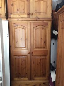 Large, pine wardrobe in excellent condition