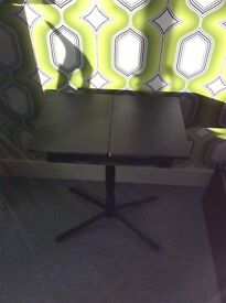 Amazing space saving laptop table in black, excellent condition, adjustable £20