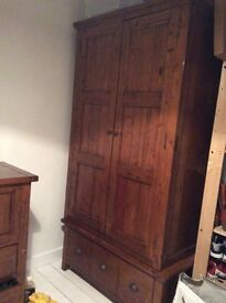 Wardrobe with large deep drawer underneath