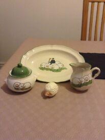 Sheep and Shepherd Tableware by Zeller Kerami