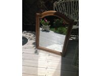 BEAUTIFULLY ORNATE LARGE VINTAGE CARVED WOOD FRAMED MIRROR