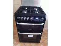 Double electric oven with gas hob