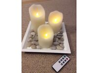 3 battery operated candle set