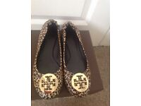 Tory Burch ballerina shoes Authentic , worn once 30 pounds