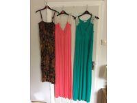 Bundle 3 maxi dresses next and top shop size 10